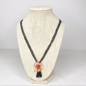 Southwest Native American Beaded Doll Necklace